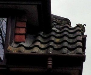 The gutters and roof at Crowthorne Lodge.