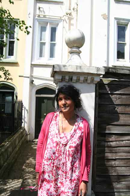 Renuka Wickramaratne outside her home in Chelsea, which is need refurbishment
