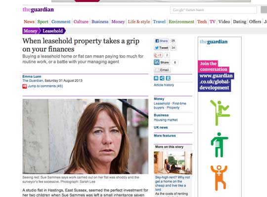 Guardian reports Leasehold Knowledge Partnership