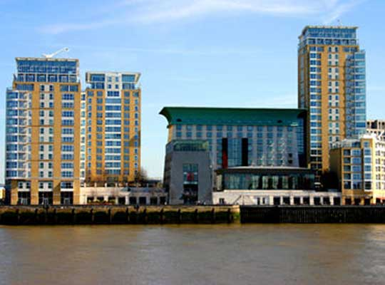 Canary Riverside, with its five-star hotel and health spa, is one of the prime sites near Canary Wharf, in London's Docklands
