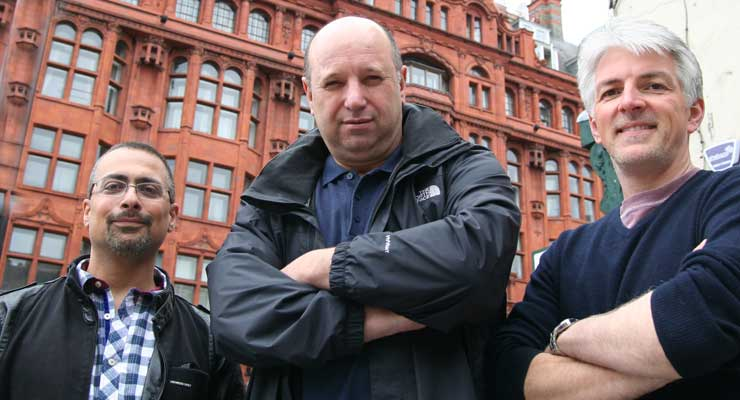 Imperial Hall leaseholders Dr Basel Asmar (left), Scott McCabe and Chris Goodwin – who have kicked out Sterling Estate Management and bought the freehold – got fed up with being taken for a ride