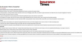 LKP reported in Insurance Times over flood figures