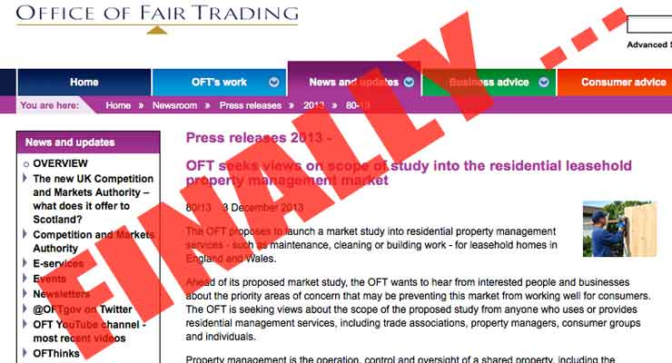 LKP gets full investigation into leasehold management by the Office of Fair Trading