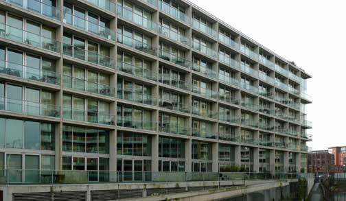 Timber Wharf, in Manchester's Castlefield, is the fashionable showroom of developer Urban Splash, but residents claim the roof has been leaking for ten years