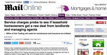 Daily Mail reports OFT inquiry into leasehold management