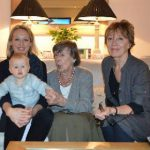 Daughters 'R' us: Alex Ellison (right) with her mother, Barbara Weston, daughter and grand-daughter