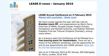 London LEASE conference on February 4