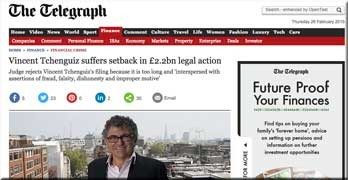 Tchenguiz 'skulduggery', Peverel / Cirrus bid-rigging scam and Charter Quay: all get another outing