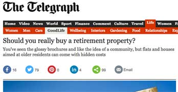 Should you buy a leasehold retirement flat, asks Telegraph