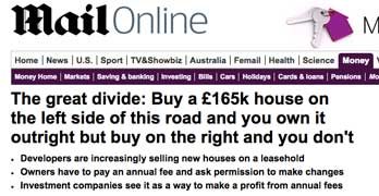 Outrageous: Persimmon builds leasehold houses – for the never ending income stream