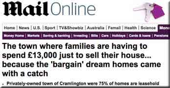 Leasehold 'a lucrative way to stop people from buying their own home outright' – Daily Mail