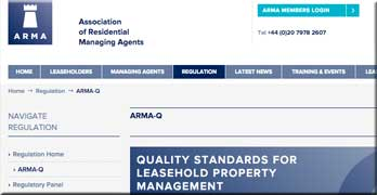 Fractures in ARMA's efforts to regulate the leasehold property management sector