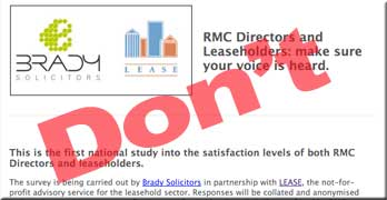 LEASE uses debt-collecting Brady Solicitors for leaseholder survey