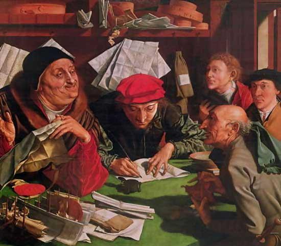 The lawyers' office by Marinus van Reymerswaele, 1545
