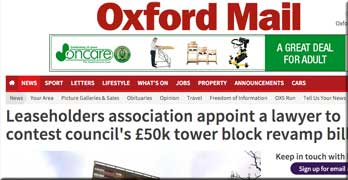 Uproar in Oxford as 50 council leaseholders face bills of £50,000 each