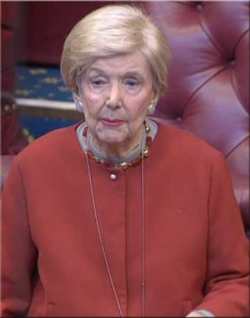 Baroness Gardner speaking at the debate