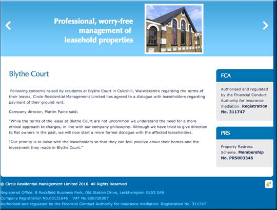 Martin Paine promises 'professional, worry-free management of leasehold properties'