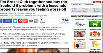 Mail on Sunday urges right to manage or buy the freehold