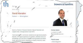 Did Trowers & Hamlins try to stifle Parliamentary debate?