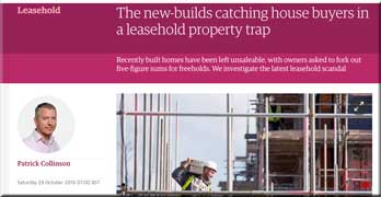 Disgraceful leasehold houses reported in Guardian today