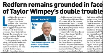 Taylor Wimpey woes reported in Estates Gazette