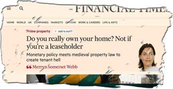 Housebuilders 'pimp their profits' by selling freeholds, says Financial Times columnist
