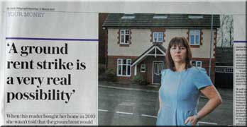 Daily Telegraph reports the new-build leasehold houses ban