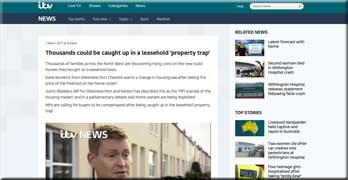 ITV News covers the leasehold house scandal, and homeowners stage mass demo on March 18