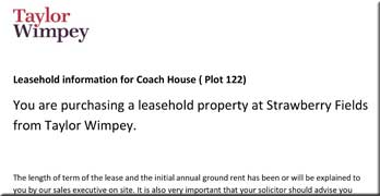 "Leaked Taylor Wimpey document showing doubling ground sales TODAY is ""an oversight"""