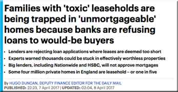 Ground rent scandal risks becoming full-blown crisis as loans are refused on blighted homes