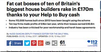 Daily Mail turns up the heat on 'fat cat' housebuilder bosses