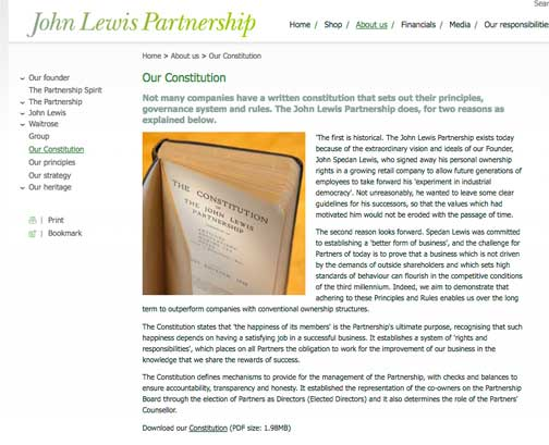 The Constitution Of The John Lewis Partnership U0027aims To Obey The Spirit As  Well As The Letter Of The Law And To Contribute To The Wellbeing Of The ...