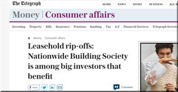 Telegraph and Mail attack Nationwide for £54 million ground rent investments