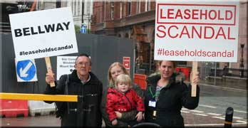 Ripped-off leaseholders bring protest to central Manchester