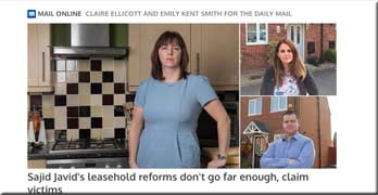 Daily Mail on leasehold houses and doubling ground rent scandals