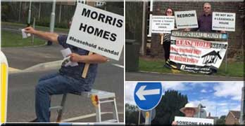 Ground rent protestors stage ANOTHER demonstration against leasehold houses and charges
