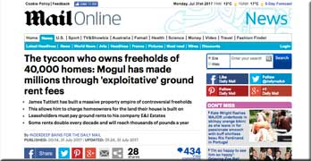 Daily Mail reports E&J Estates and wine-growing freeholder James Tuttiett