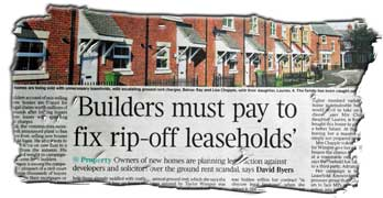 Housebuilders and stooge conveyancing solicitors face legal action, reports The Times
