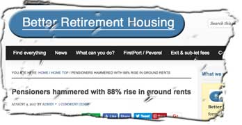 Pensioners hammered with 88% rise in ground rents, says Better Retirement Housing