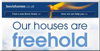 Now Bovis says 'Our houses are freehold'. (Gleeson's always were …)
