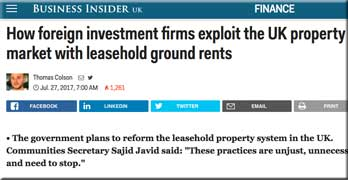 Murky investors hitching a ride on the English (and Welsh) homeowner, thanks to leasehold