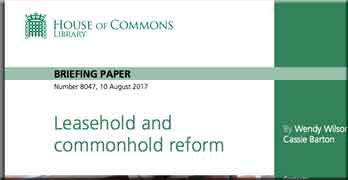 Commons Library's excellent resume of leasehold problems will give MPs plenty of ideas for reform