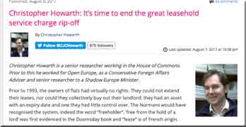ConservativeHome website calls for radical reform of leasehold