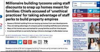 "Daily Mail attacks housebuilder bosses helping themselves to ""mate's-rates homes"""