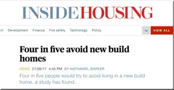 Now four in five homebuyers avoid new-builds … after ground rent scandals and shoddy build quality, that's no surprise
