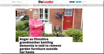 Countrywide to take away pensioner's flower pots, says local newspaper