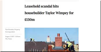 'Fright night' for Taylor Wimpey as profits fall 24% over leasehold scandal, says Times
