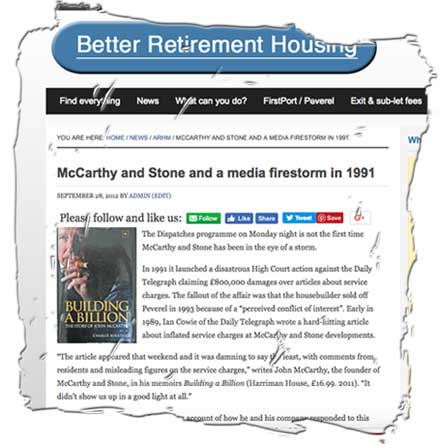 McCarthy and Stone says ground rents essential, but why sell