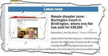 BetterRetirementHousing.com reports retirement resale disasters. On BBCR4 MoneyBox today