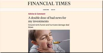 Ground rent speculator in leasehold homes laments losses in FT